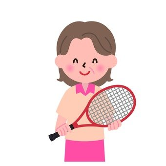 Grandmother and tennis