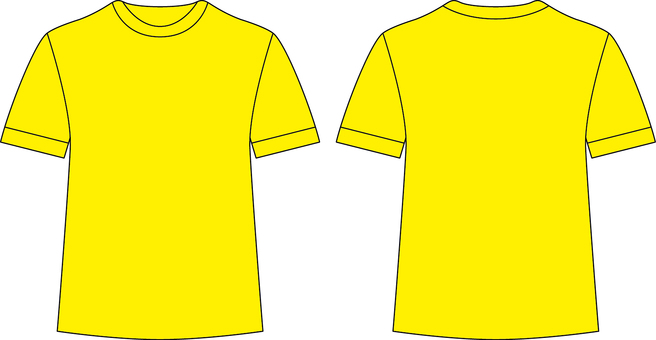 T-shirt _ front / back _ yellow