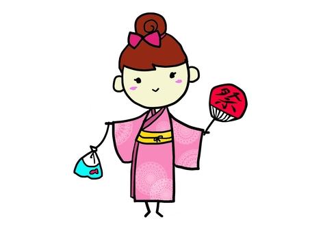 Girls wearing yukata 2