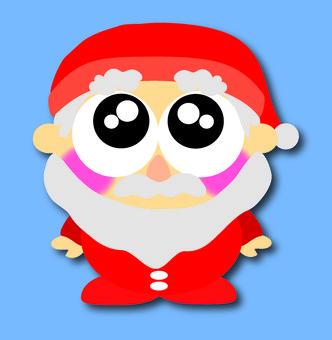 With eyes Santa