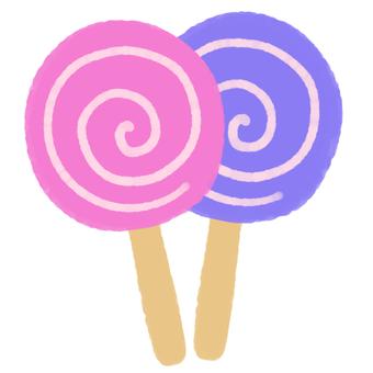 막대 사탕 (핑크)