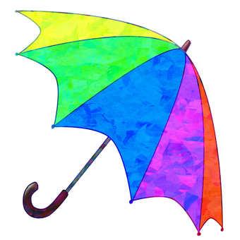 彩虹色的傘