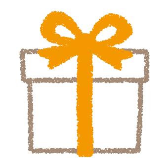 Present box _ yellow