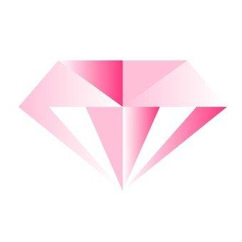 Cut Diamond - Pink