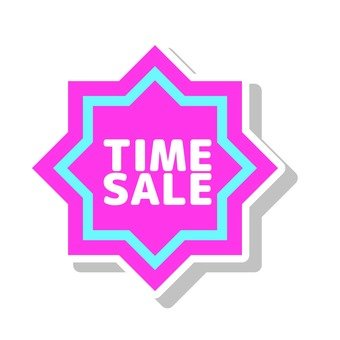 Time sale icon