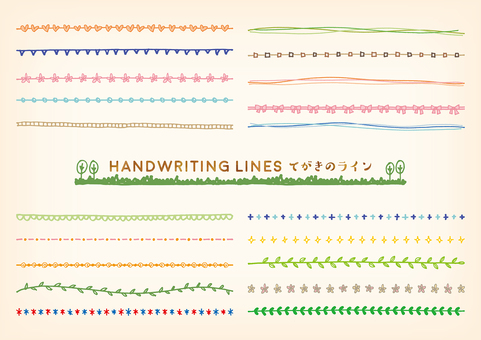 Hand-painted line set