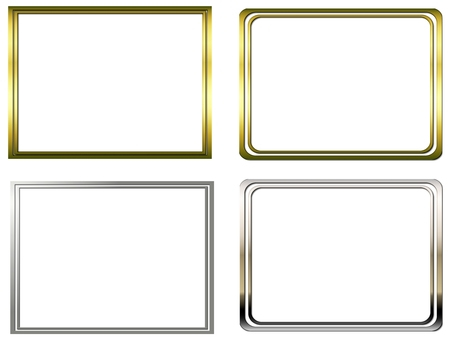 Gold and silver frame set