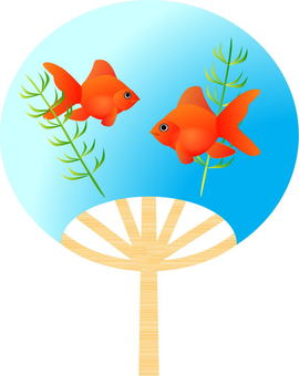 Fan among the goldfish picture