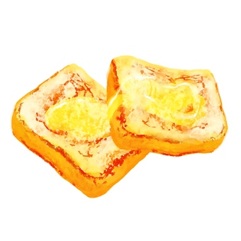 Watercolor food series French toast