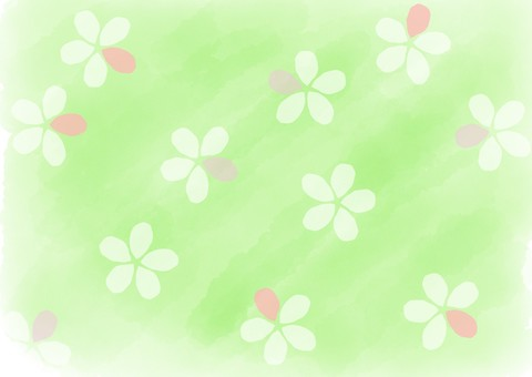 Watercolor Flower background Green