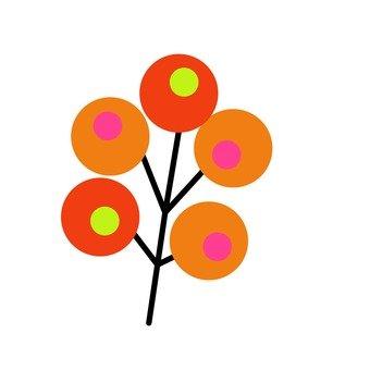 Scandinavian tree (orange)