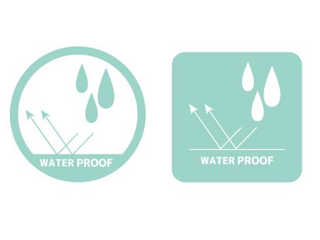 Waterproof, water resistant display icon