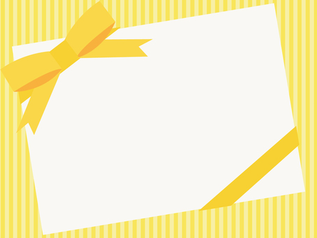 Yellow thick ribbon frame 2