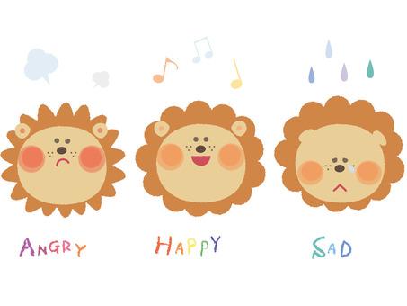 Facial Expressions-Lion