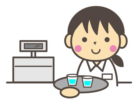Cafe clerk ☆