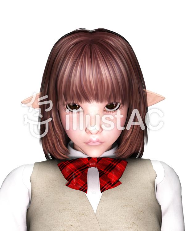 妖精女子高生のイラスト
