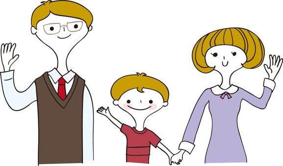 손 흔들기 가족