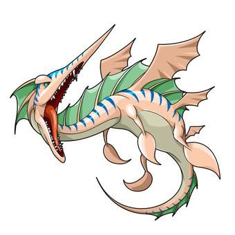 水棲ドラゴン進化