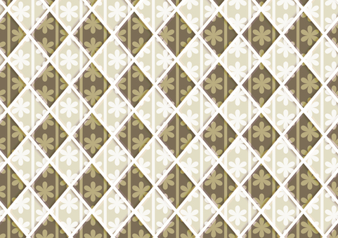 Flower tile (beige)