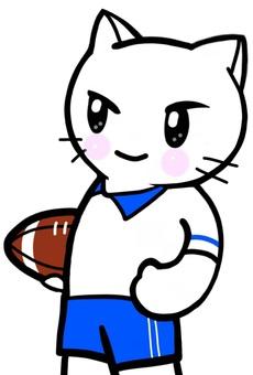 ラグビー 選手 猫 スポーツ 運動