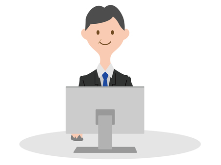 컴퓨터를하는 정장 남성 3
