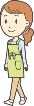 Apron youth long hair-348-whole body