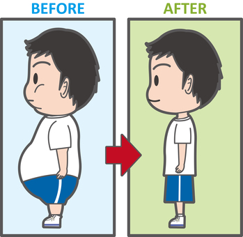Diet Before After Side