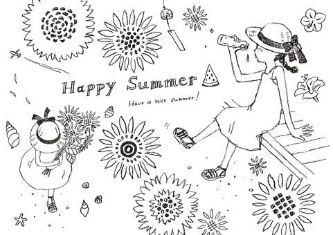 Summer 2 monochrome
