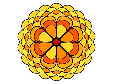 Flower handle yellow 2