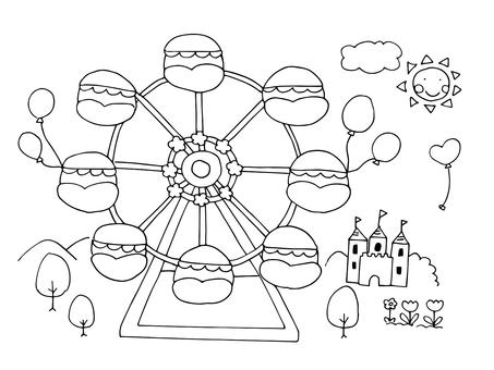 Ferris wheel (line drawing)