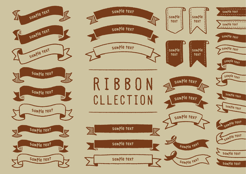 Handwritten ribbon set