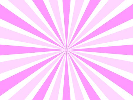 放射線 ピンク色