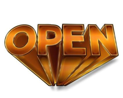 OPEN three-dimensional logo