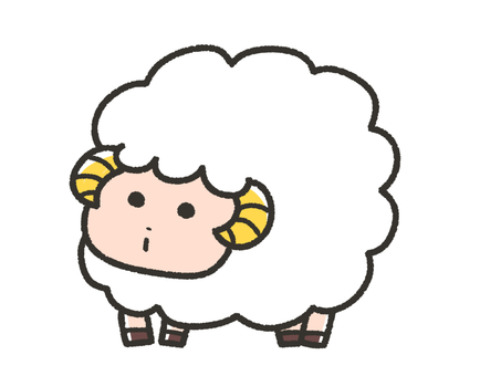 Cute sheep, Aries