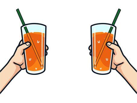 Illustration of a toast (juice)