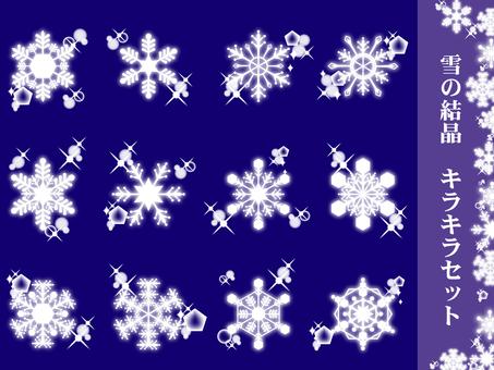 Snow crystal winter