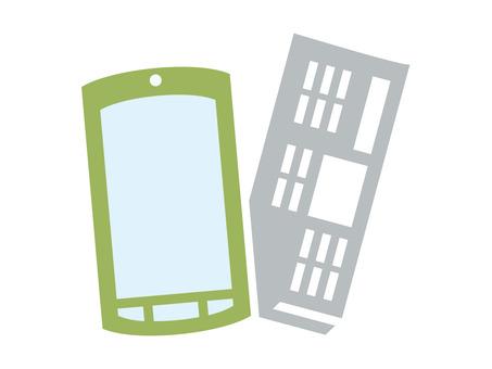 Newspaper / smartphone