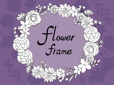 Botanical flower frame 02