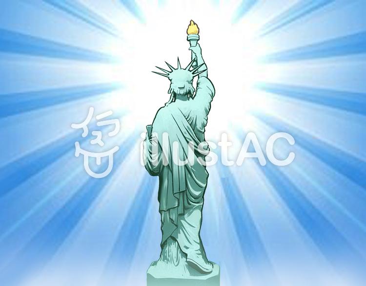自由の女神の後ろ姿イラスト No 1187082無料イラストならイラストac
