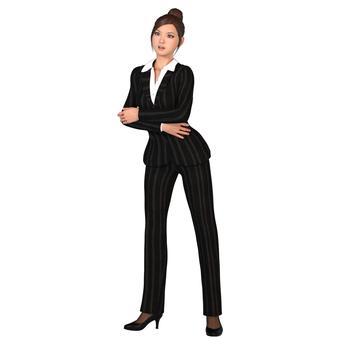 Pants suit woman 03