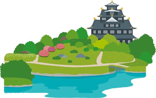 Korakuen and Okayama castle
