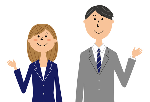 Business person man and woman _ upper body