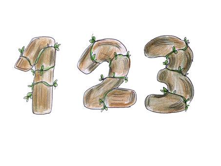 Number (Wood) 123