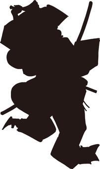 Ukiyo-e silhouette 159