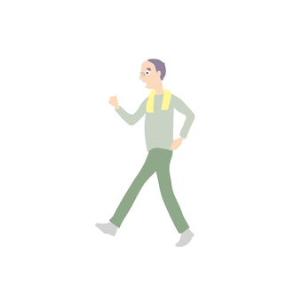 Family Male Senior Walking 1