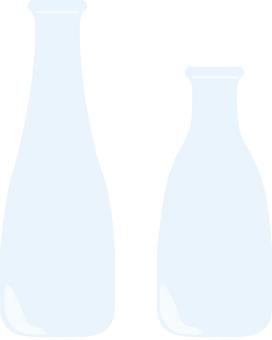 Bottle, water, vase