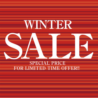 SALE promotional leaflet poster in winter DM