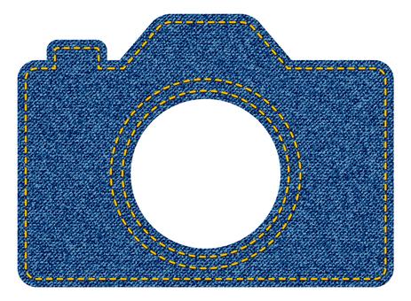 デニム風図形カメラ