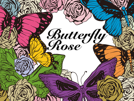 Rose and Butterfly's Primary Pop Art Postcard