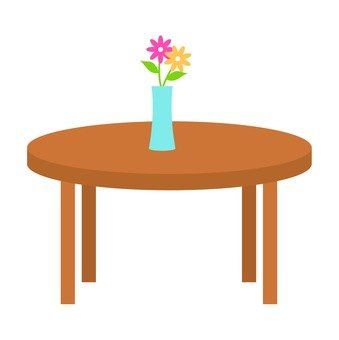 Table and flowers
